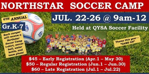 Northstar Soccer Camp 2019- Late Registration