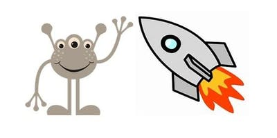 Longlevens - Summer Reading Challenge -Clay Modelling (aliens, planets & rockets)