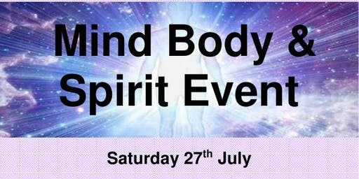 Mind Body & Spirit Event!  Healing Therapies & Psychic Readings.