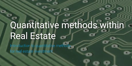 Understanding Quantitative Methods for Real Estate Investment, London, 10 Oct. 2019 tickets