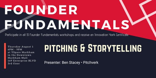 Founder Fundamentals - Pitching & Storytelling
