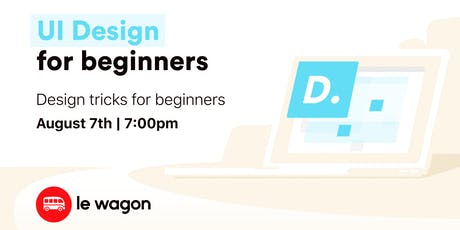 UI Design for Beginners bilhetes