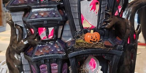 Haunted House Pottery Paint