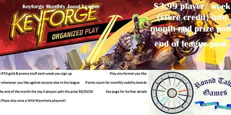 Keyforge July Joust League at Round Table Games tickets