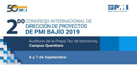 2DO CONGRESO INTERNACIONAL DE DIRECCIÓN DE PROYECTOS PMI BAJIO CHAPTER boletos
