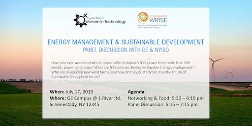 WRISE NY Capital Region Energy Management and Sustainable Development Panel