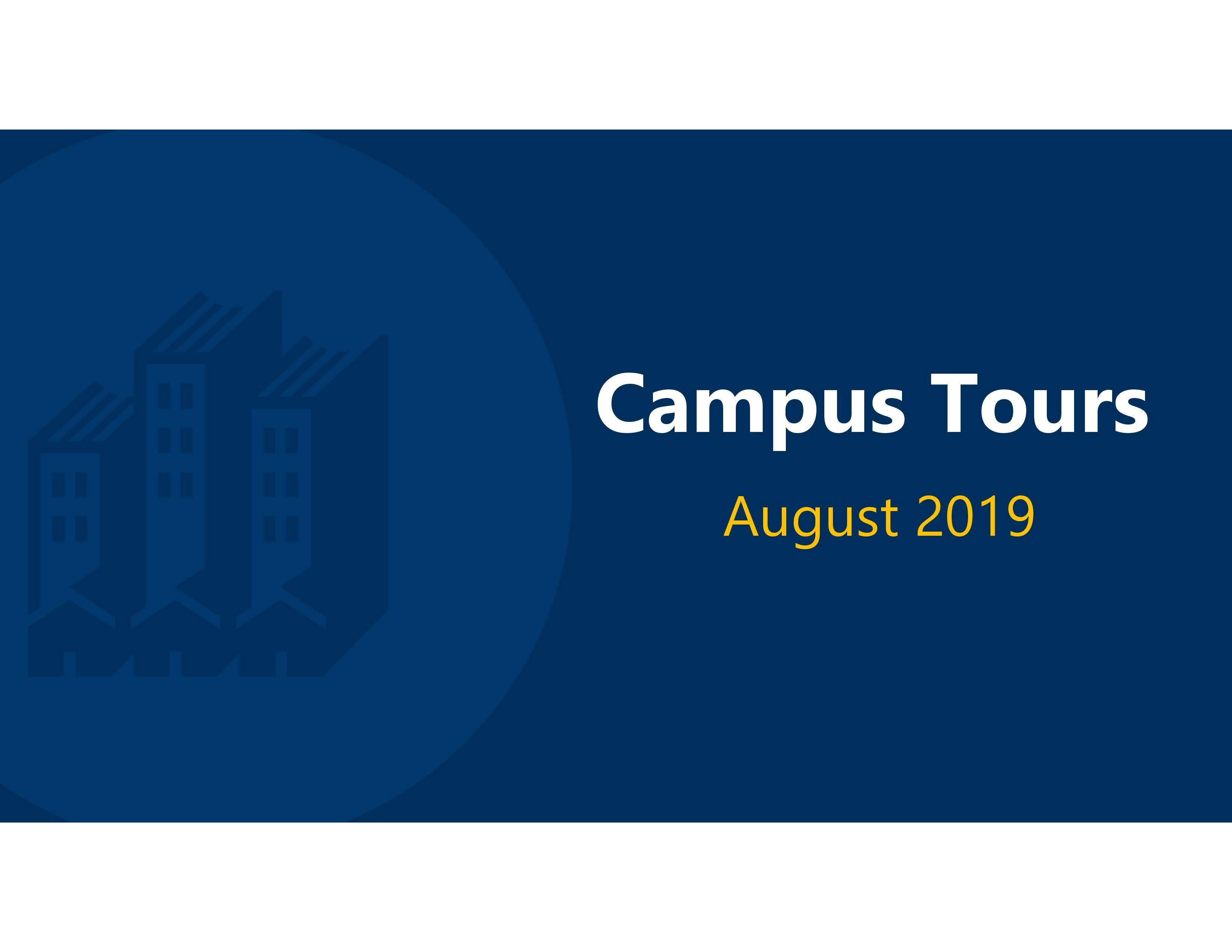 August 2019 Tours