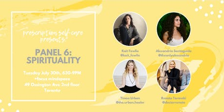 Prescription Self-Care Panel Series Part 6: Spirituality tickets
