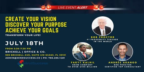 Create Your Vision, Discover Your Purpose, And Achieve Your Goals! tickets