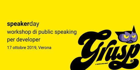 speakerday - workshop di public speaking per developer tickets