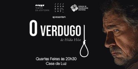 """Teatro da Vértebra encena """"O Verdugo"""" de Hilda Hilst ingressos"""