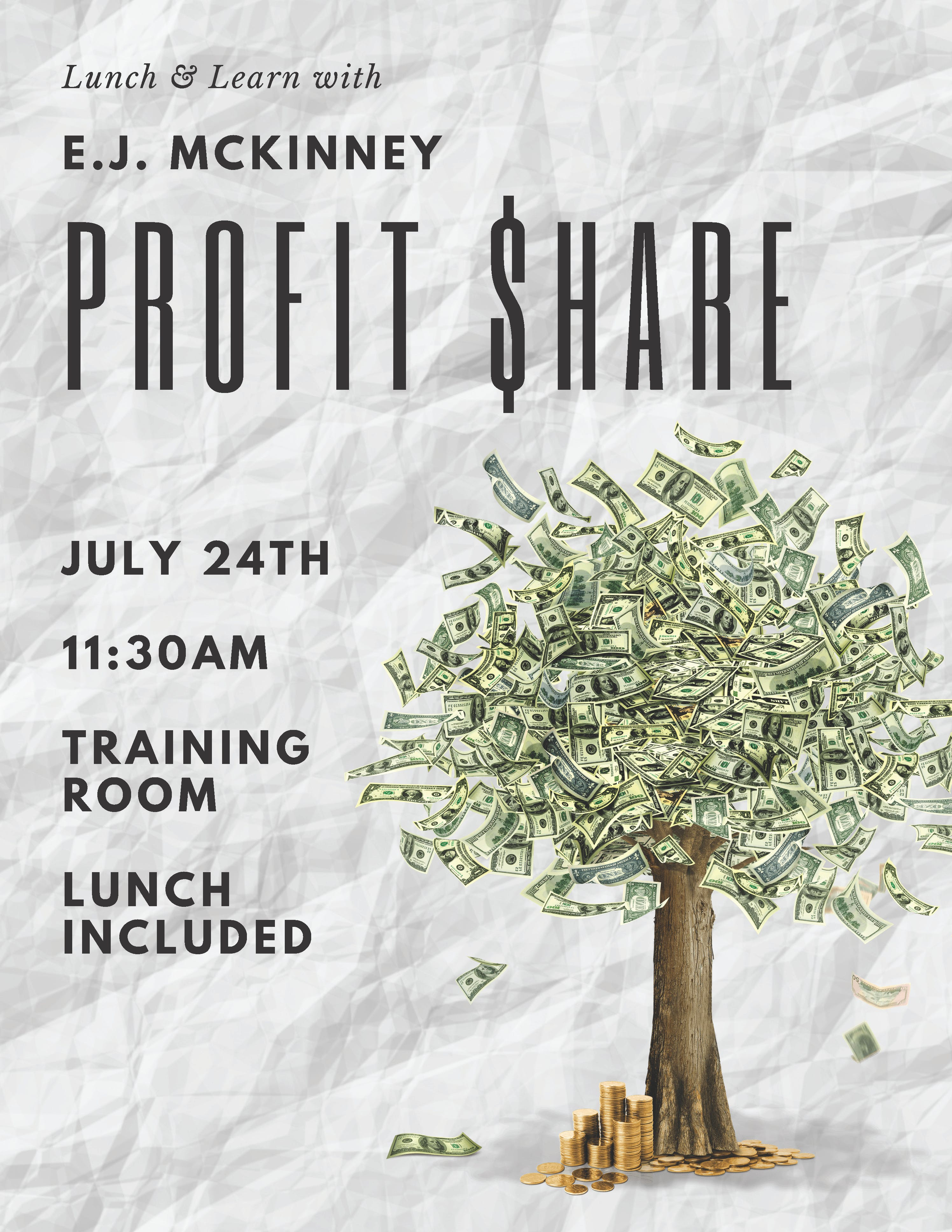 Lunch & Learn: Profit Share with E.J. McKinney!