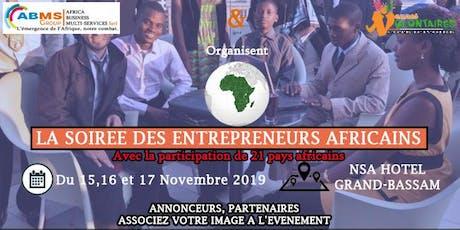 LA SOIRÉE DES ENTREPRENEURS AFRICAINS tickets