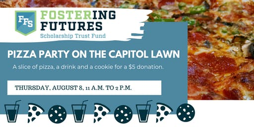 Fostering Futures Scholarship Pizza Party On the Capitol Lawn
