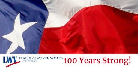 LWV Texas 100 Year Anniversary Event Program Ad tickets