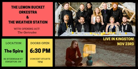 Lemon Bucket Orkestra & The Weather Station - Benefit Concert tickets