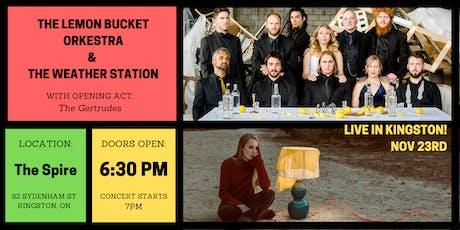 Lemon Bucket Orkestra & The Weather Station - Benefit Concert tickets