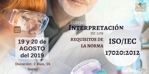 INTERPRETACIÓN DE LOS REQUISITOS DE LA NORMA ISO/IEC 17020:2012