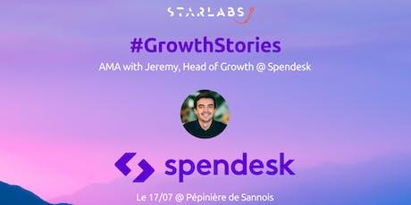#GrowthStories: AMA with Jeremy @ Spendesk | Pépinière de Sannois billets