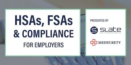 Employer HSA, FSA, and Compliance Seminar with Medsurety tickets