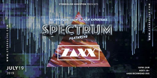 Spectrum: An Immersive Color and Laser Experience feat. ZAXX - Houston