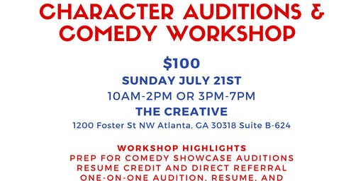 CBS Diversity Showcase Character & Comedy Prep Workshop