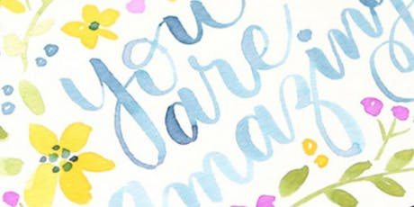 Watercolor Calligraphy Brush Lettering tickets