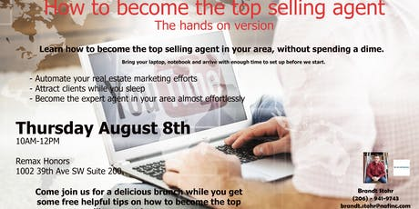 How to become the top selling agent - The hands on version tickets
