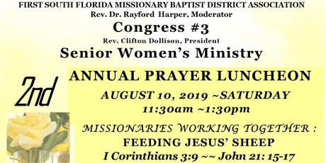 FSF-Congress #3 Senior Women's Ministry 2nd Annual Prayer Luncheon tickets