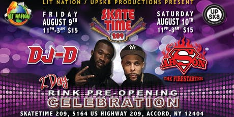 SkateTime 209 Pre-Opening Celebration Weekend tickets