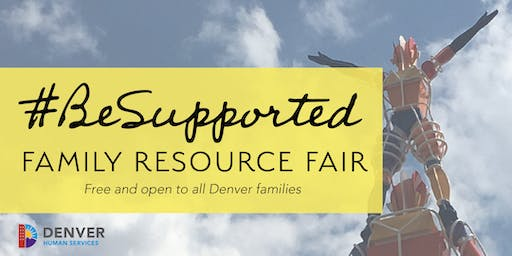 2019 #BeSupported Family Resource Fair (vendor signup)