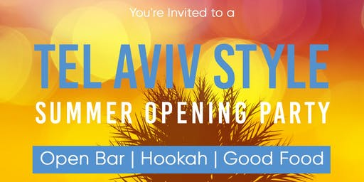 A Tel Aviv Style Summer Opening Party