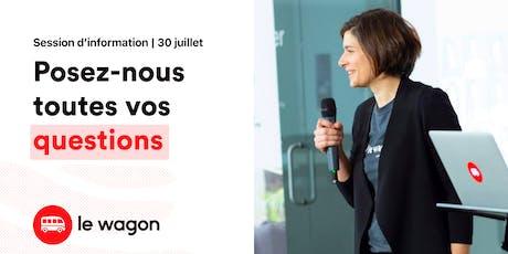 Session d'information - Le Wagon Montréal vous ouvre ses portes billets