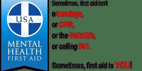 Community Mental Health First Aid Training tickets