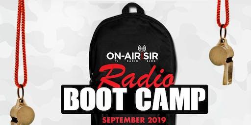 On-Air with Sir Radio Bootcamp