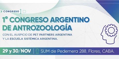 1º Congreso Argentino de Antrozoología entradas