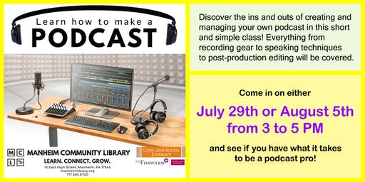 Learn How to Make a Podcast