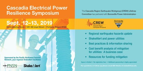 Cascadia Electrical Power Resilience Symposium 2019 tickets