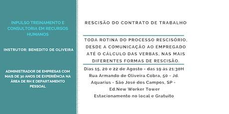 Curso: Rescisão do Contrato de Trabalho ingressos