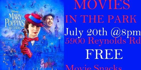 Morrow's Movies in the Park tickets