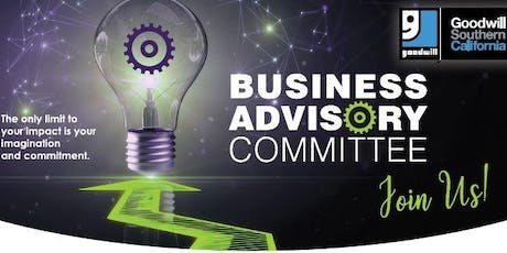 Copy of Goodwill Business Advisory Committee (BAC) Meeting tickets