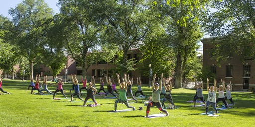 The Women of Silver & Blue Presents Yoga on the Quad 8.24