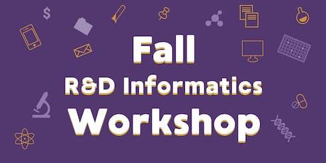 Scilligence Fall R&D Informatics Workshop tickets
