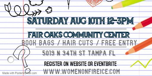 Women On Fire Inc. Back to School Bash