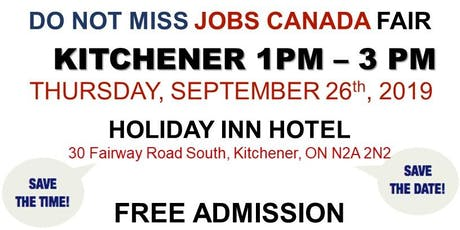 Kitchener Job Fair - September 26th, 2019 tickets
