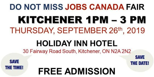 Kitchener Job Fair - September 26th, 2019