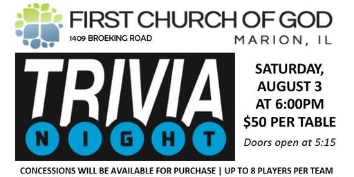 2nd Annual Trivia Night - Marion FCOG