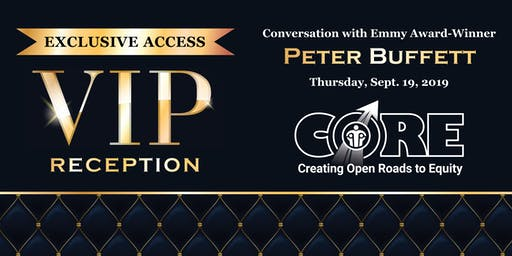 Exclusive VIP Reception & Conversation with Peter Buffett