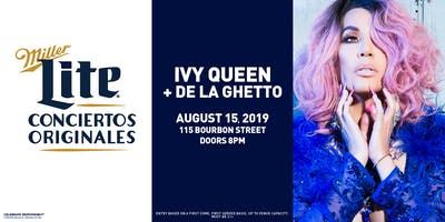 Miller Lite Presents: Ivy Queen & De La Ghetto - August 15 - Chicago, IL
