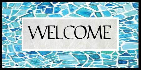 """Welcome"" Mosaic Sign"